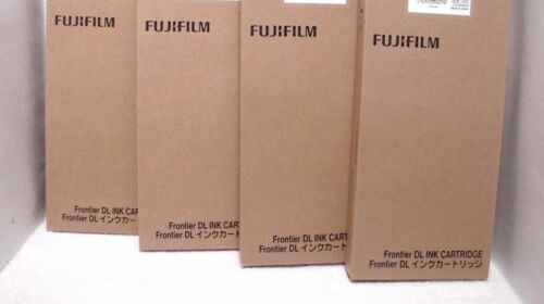 FujiFilm DL Ink Cartridge 500ml ~ 4-Black ~ Lot of 4 ~
