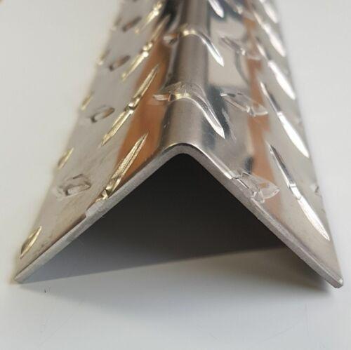 1000mm Aluminium Winkel Riffelblech Diamant 1,5//2,0mm stark Kantenschutzprofil