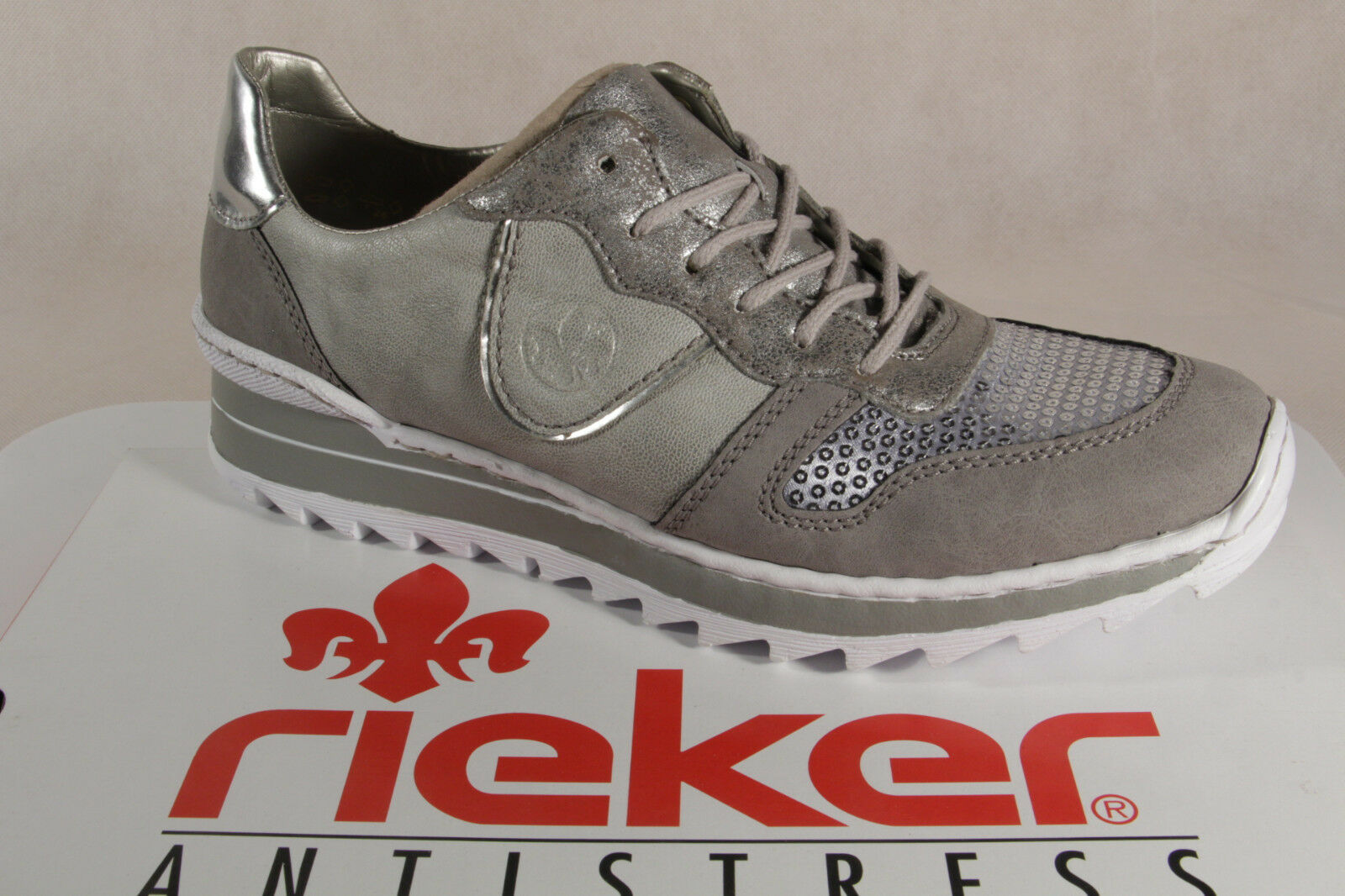 Rieker Mujer Zapatos de Cordones Mocasines Zapatillas Deporte los Del Del Del gris M6902  oferta de tienda