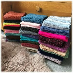 Hand Knitted Acrylic Scarves 1 Many Designs//Colours Available