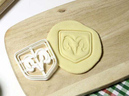 Dodge Challenger logo emblème Cookie Cutter Cupcake Topper Fondant pain d/'épices