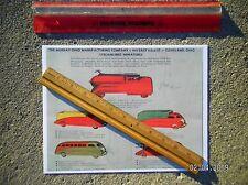 Steelcraft Murray Streamlined Viktor Schreckengost Toy Trucks 1940 Drawing