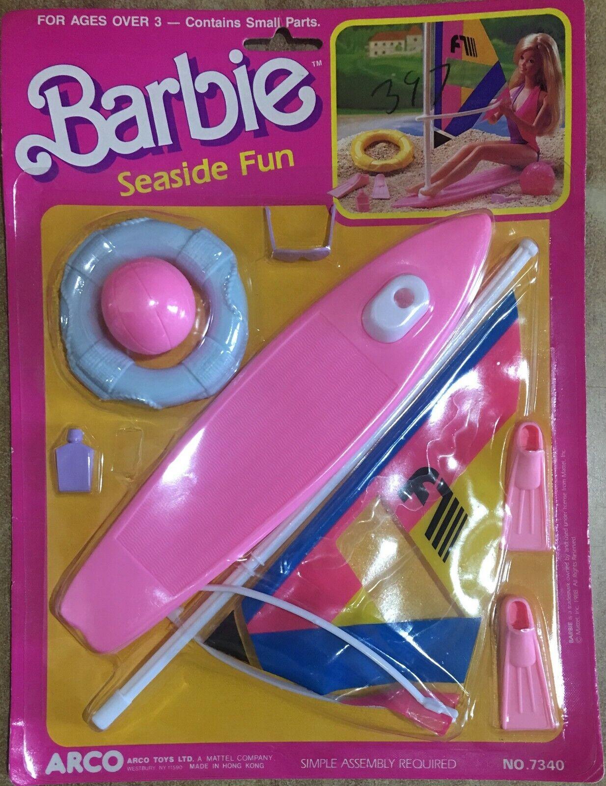 Barbie Seaside Windsurf Set Arco by Mattel Vintage 88' 88' 88' RARO 1d5486