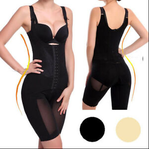 c5cee75add6f9b Details zu Damen Full Body Shaper Mieder Bodysuit Waist Trainer Figurforme  Korsage Korsett