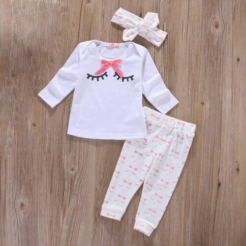 Baby girl clothes Autumn Newborn Baby Girl Clothes Sets 3pcs suits Top+ Pants+He