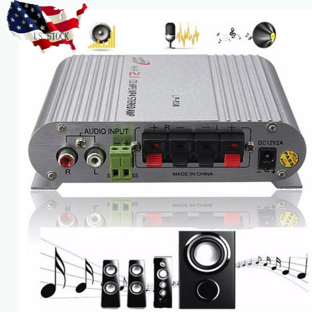 200W Hifi Cd Radio Car Home Audio Stereo Bass Mp3 Speaker Amplifier Booster 12V