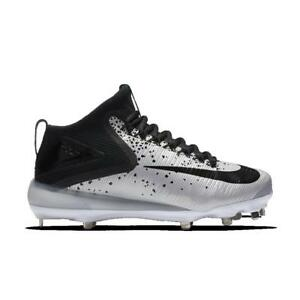 0f61d0823 Details about Men s Nike Force Zoom 3 Mike Trout Mid Metal Baseball Cleats  Black Grey Size 13
