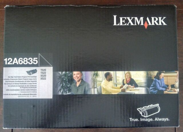 Lexmark 12A6835 High Yield Toner Cartridge for T520 T522 X520 X522 New Seal