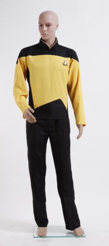 Star Trek Men Costume Cosplay TNG The Next Generation Uniform Set Custom Made