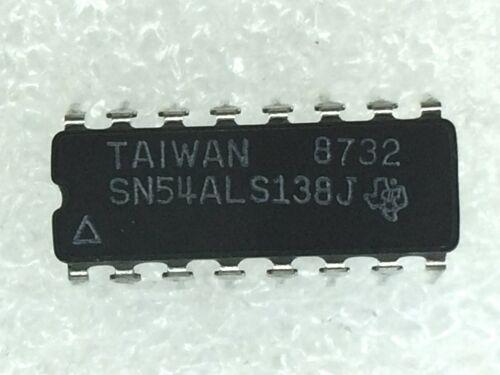 SN54ALS138J TI IC Decoder//Demultiplexer Single 3-to-8 20-Pin 4 PIECES