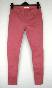 Levi-039-s-710-hoch-tailliert-Super-Skinny-Stretch-CORAL-Denim-Damen-Jeans-28w-30l