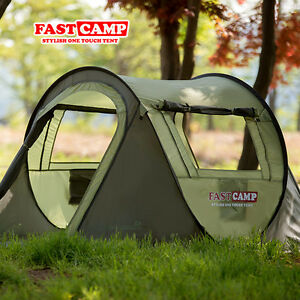 Image is loading Smart-Pop-up-Outdoor-3-4-Person-C&ing- & Smart Pop-up Outdoor 3~4 Person Camping Hiking Tent One-touch tent ...