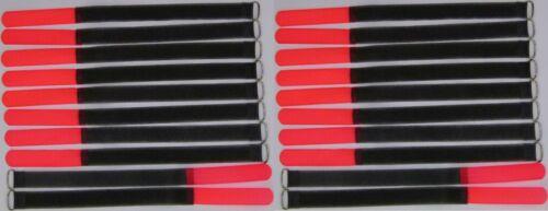 20x Klett Kabelbinder 300 x 20 mm neonrot FK Kabelklettband Kabelklett Klettband