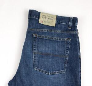 Tommy Hilfiger Herren Maßgefertigt Gerades Bein Jeans Größe W36 L32 ATZ1008