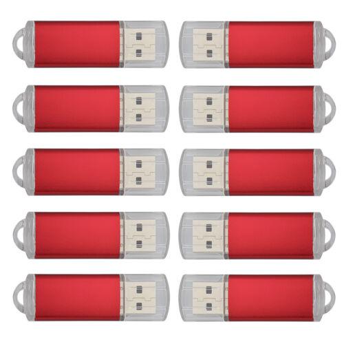 10 Pack 4GB USB Flash Drive Thumb Pen Drive Rectangle Model Flash Memory Stick