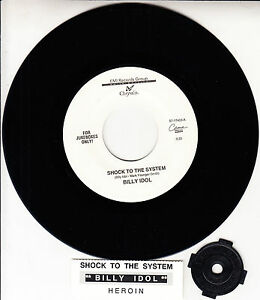 BILLY-IDOL-Shock-To-The-System-7-034-45-rpm-record-juke-box-title-strip-RARE