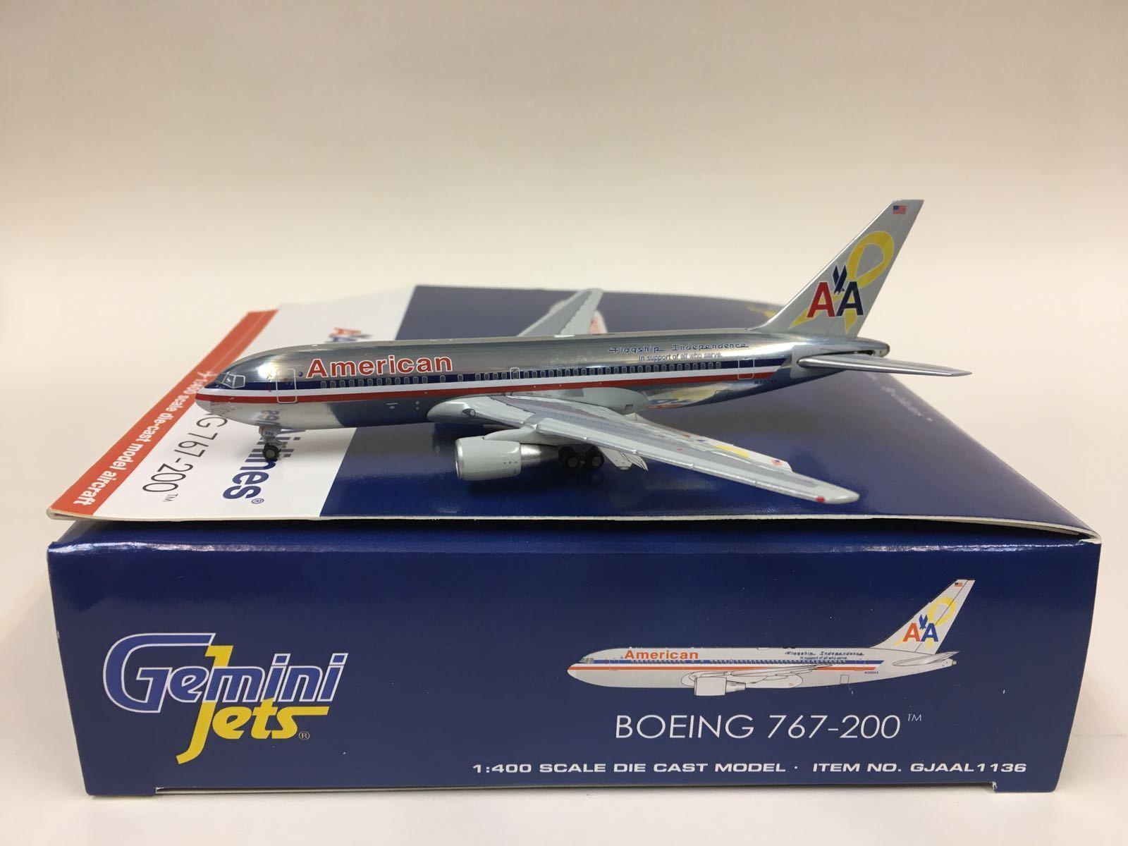 Gemini Jets American Airline Boeing 767-200 1 400 N320AA gjaal 1136