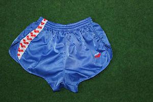 Arena-Vintage-Sprinter-Shorts-Nylon-Glanz-kurze-Sporthose-hellblau-D8-XXL-NEU