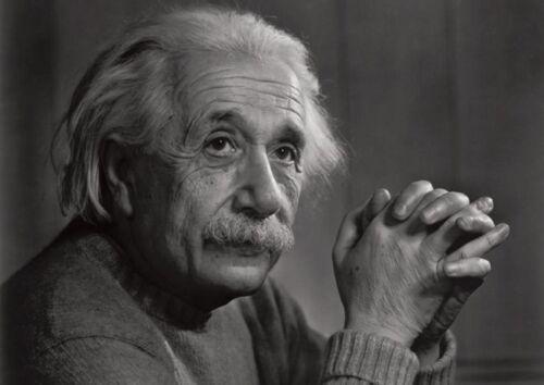 Albert Einstein Awesome BW Poster