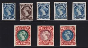 Canada-VD-FB18-FB29-1860s-Bill-Stamp-Revenue-Trial-Plate-Proofs