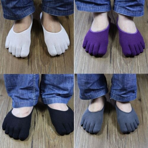 5 Pairs Men Invisible No Show Sock Toe Sock Trainer Five Finger Shoe Liner sock