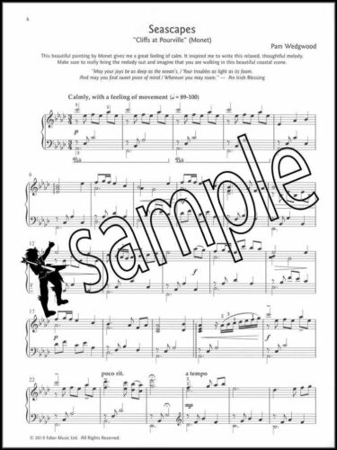 Piano Seascapes Pam Wedgwood Sheet Music Book 12 Pieces SAME DAY DISPATCH