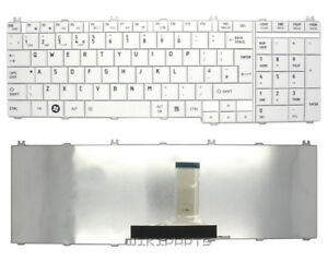 New-Replacement-TOSHIBA-SATELLITE-C660D-1HK-Qwerty-UK-Laptop-White-keyboard