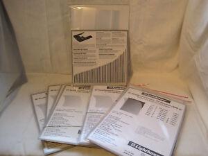 Leuchtturm-Streifensortiment-glasklar-unterschiedliche-Hohe-zur-Auswahl