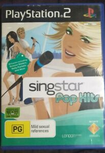 Playstation-2-PS2-Singstar-Pop-Hits-Game-with-Manual-Free-Postage-GC