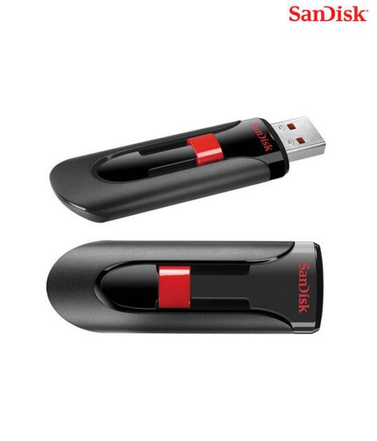 Set of 2 x 32GB Cruzer GLIDE USB Flash Pen Drive Sealed Retail Pk SanDisk 64GB