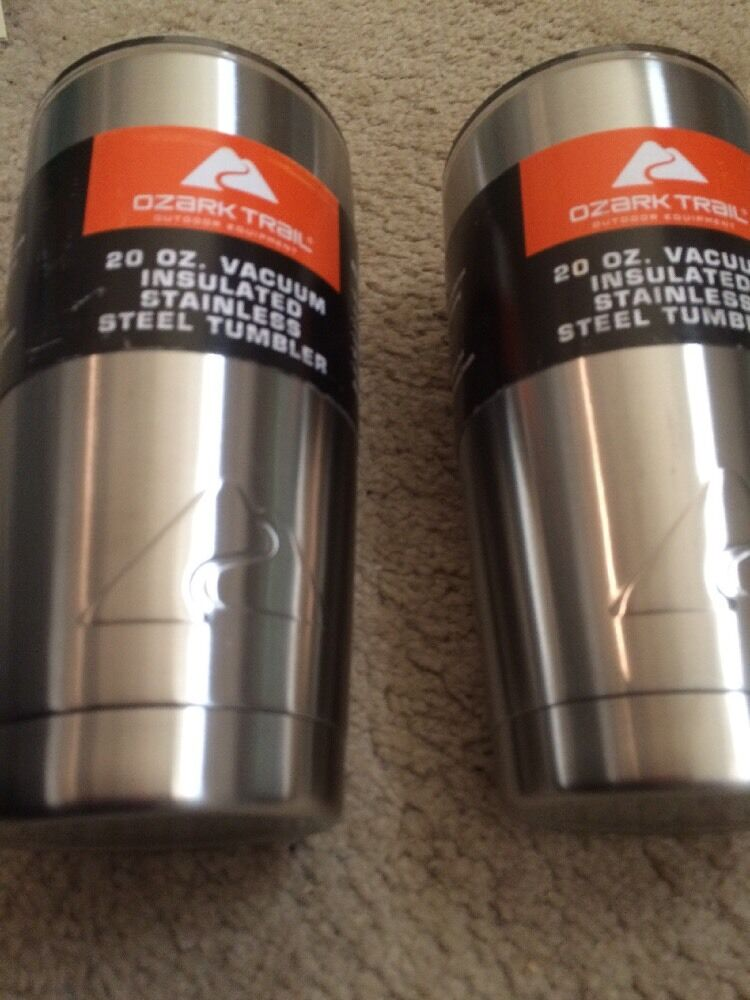 Set of 4 New Ozark Trail 20 oz Tumbler Stainless Steel Christmas Coffee Cup