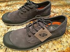 NEW Men's PALLADIUM Pampa Oxford Suede UL Gray Metal Vapor Leather Size 9 M