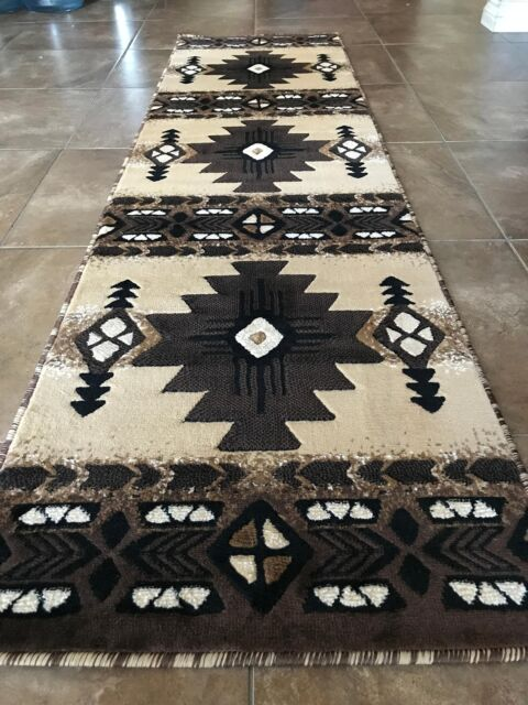 Southwest Native American Runner Area Rug Berber Design No C318