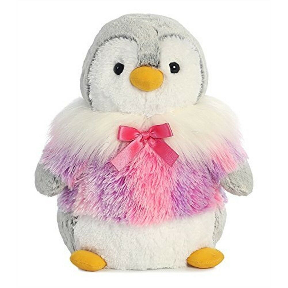 Aurora World 73952 16-inch Pompom Penguin Panache Pink Plush Toy - Pom Cuddly