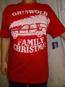 Griswold-Family-Christmas-National-Lampoon-039-s-Christmas-Vacation-Red-Shirt-Size-L