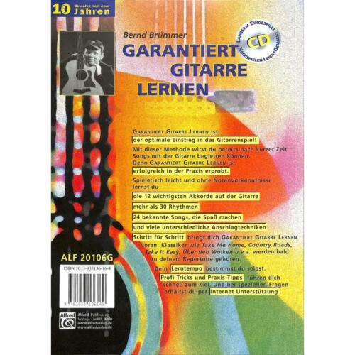 Songs 20106G Rhythmen - Akkorde Garantiert Gitarre lernen +CD und Plektrum