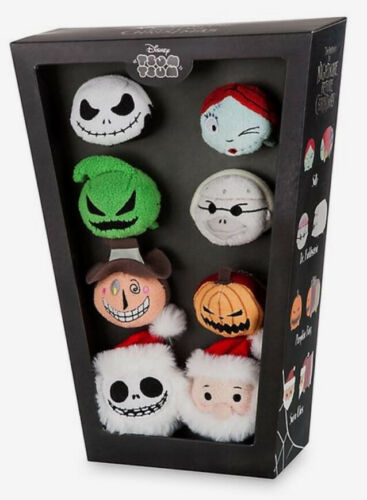 """Details about  /Disney THE NIGHTMARE BEFORE CHRISTMAS 8 Mini 3.5"""" TSUM TSUM IN COFFIN BOX NEW"""