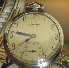 Superbe montre à gousset LONGINES acier 1937 calibre 37.9 ABC restaurée révisée