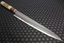 Japanese Yanagiba Kitchen Knife TERUHIDE Wood Handle sushi sashimi Carbon Japan