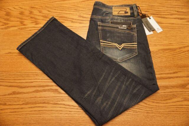 NWT MENS BUFFALO DAVID BITTON JEANS Multiple Sizes King-X Slim Boot Stretch Gray
