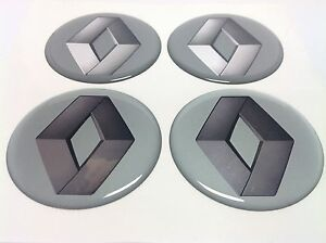 renault autocollant sticker centre de roue cache moyeu jante silicone 4 x 60mm ebay. Black Bedroom Furniture Sets. Home Design Ideas