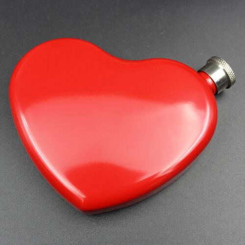 Acier Inoxydable Portable Coeur Forme Hip Flask vin whisky vodka bouteille 4.4 OZ environ 124.74 g