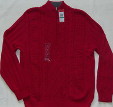 Mens IZOD Main Street Cot 1/4 Zip Sweater Jester Red 490206 L | eBay