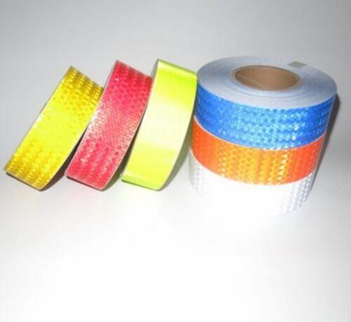 Fluorescence Blue Reflective Safety Warning Tape 5cmx3m