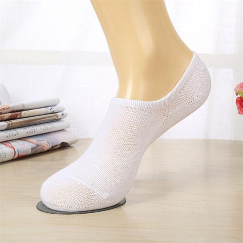 1 Pair Casual Cotton Men Women Socks Low Cut Boat Nonslip Invisible Soft No Show