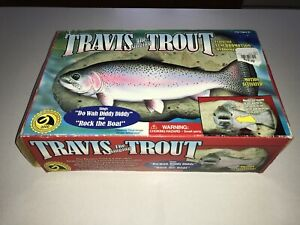 Vtg-1999-Travis-The-Singing-Trout-Gemmy-Animated-Fish-Wall-Mount-New-Open-Box