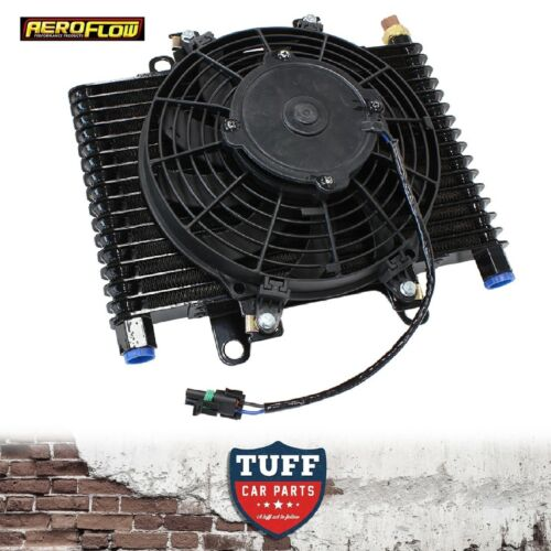 """Aeroflow Competition Transmission Oil Cooler Fan /& Switch 13.5/""""x9/""""x3.5/"""" 10 ORB"""