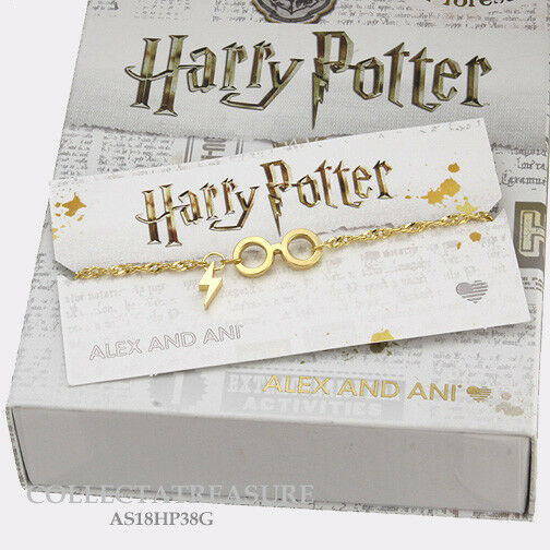 Authentic Alex and Ani Harry Potter,Glasses 14kt GP Pull Chain Bracelet