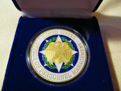 United States Office of Personnel Management Challenge Coin w// Presentation Box