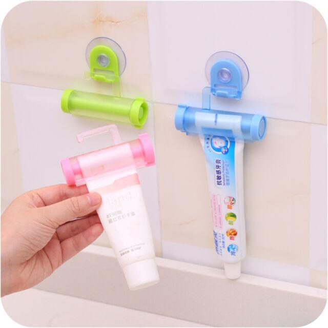 New Toothpaste Rolling Squeezer Dispenser Tube  Sucker Hanging Holder DS
